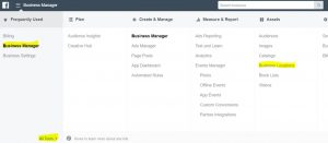 Facebook Business Locations manager