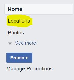 facebook locations tab